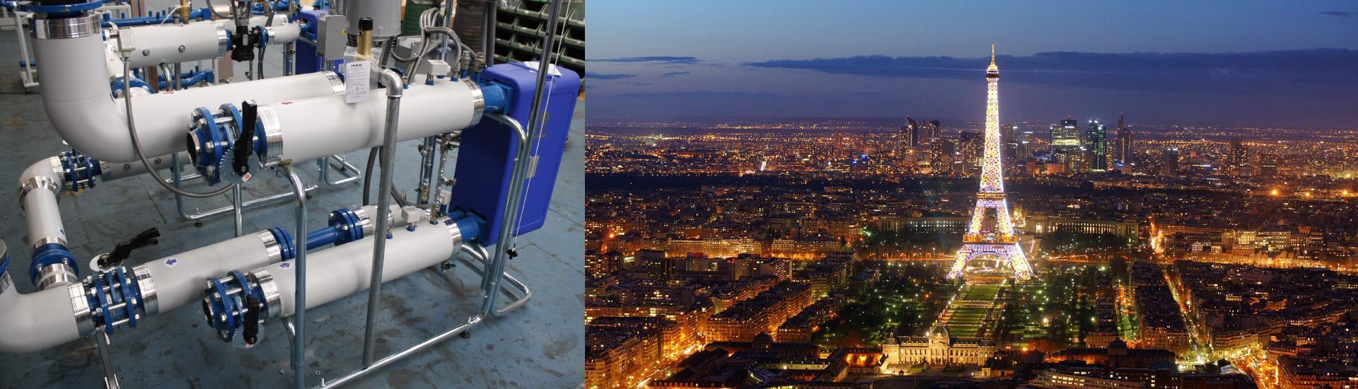 Le sottostazioni di teleriscaldamento AMARC DHS riscaldano alcuni quartieri di Parigi.